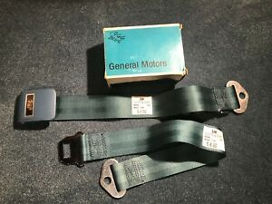 NOS 1965 1966 GM CHEVROLET PASSENGER IMPALA CAPRICE REAR SEAT BELT BLUE 7595029