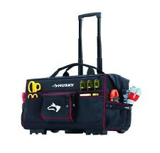 Husky 22 in. Rolling Mobile Heavy Duty Portable Tool Bag Storage Organizer Tote