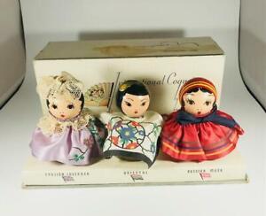 "RARE~ 1930s ""KAROFF - INTERNATIONAL COQUETTES"" Perfume Bottle Set IN ORIG BOX"