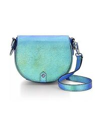 AUTHENTIC Rebecca Minkoff Iridescent Saffiano Leather Astor Saddle Bag Crossbody