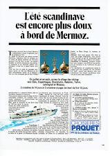 Publicité Advertising 018  1982  Croisières Paquet  Mermoz Moscou bulbes Kremlin