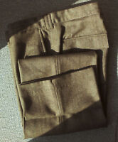 "smart trousers herringbone brown 88% wool Next Heritage W.32""S low rise (314)"