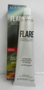 CLAIROL FLARE (BURGUNDY SHADE) Hair Color Cream With Built-In Gloss ~ 2 fl. oz.!