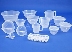 UK Made Food Prepration Clear Plastic Pudding Mixing Bowl Measuring Jug Kitchen