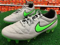 New Nike Tiempo Legend V FG Soccer Cleats Grey / Green Soccer Cleats Size 5