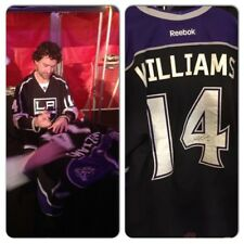 Justin Williams 12-13 Los Angeles Kings Signed Game Worn Jersey MeiGray PSA DNA