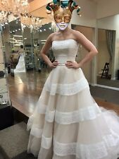 ONE-OF-A-KIND, NEVER-WORN, ALLURE WEDDING DRESS, SIZE 2