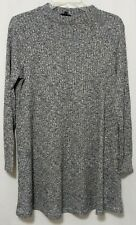 River Island Mock Neck Women's Long Sleeve Dress Size 12 Thin Knit