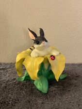 "Fitz And Floyd Charming Tails ""Binkey In A Yellow Lily� Figure"