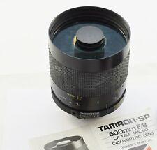 TAMRON SP 500mm 1:8 TELE MACRO Mirror Lens f/8 BBAR MC 55BB OM Mount        #W10