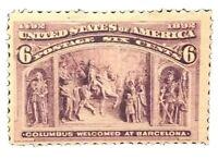 US Scott #235 H Mint XF Stamp Cat $180