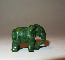 7039:Elefant aus grünen Stein,wohl Verdite,Handarbeit,aus Sammlung, gebraucht.