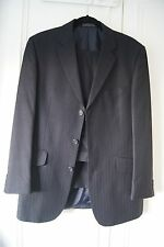 Men's Suit by BHS Navy Pinstripe Size 40R Chest 36R Trouser