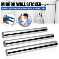 3D Mirror Wall Sticker Square Shape Self-adhesive Home Bedroom Wall Decor US