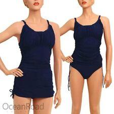 Colour Block Plus Size Tankini Swimwear for Women