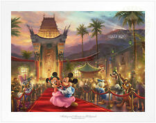 Thomas Kinkade Mickey and Minnie in Hollywood 12 x 16 Standard Number Le Paper