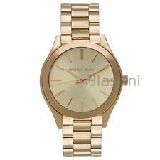 Michael Kors Original MK3512 Women's Mini Slim Runway Gold Stainless Steel Watch