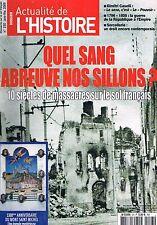 L'actualite De L'histoire   N°23   Jan 2009 10 siecles de massacres sur le sol f