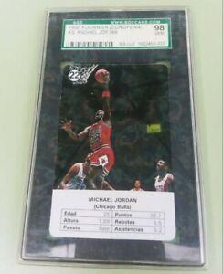 1988 NBA Fournier Estrellas #22 - MICHAEL JORDAN - SGC 98 SGC 10 - Gem Mint