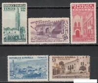 (SPANISH MOROCCO (TANGER) CHARITY .Complete set stamps 1937 EDIFIL Nº 1/5)