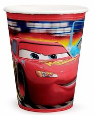 NEW DISNEY CARS 8 PAPER CUPS 9OZ PARTY SUPPLIES