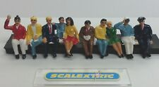 Scalextric SEATED SPECTATORS FIGURES 2 Rows (PAINTED) 1.32 AIRFIX NINCO SCX+ A
