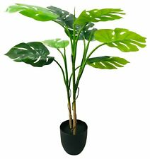Monstera artificiale albero finto Palm VASO INTERNI ESTERNI ARREDAMENTO 100cm