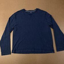 Calvin Klein Mens Size XL Navy Blue Long Sleeve Crew Neck T-Shirt
