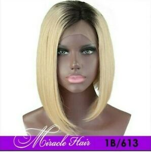 9A Lace Front Brazilian 10 inch 1B/613 Bob Wig - Miracle Mink Hair