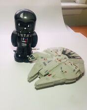 Star Wars small millenium falcon and wind-up darth vader toys
