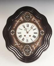 19Th Century French Mother Of Pearl Inlaid Wall Clock. 19th Century. Lot 517A
