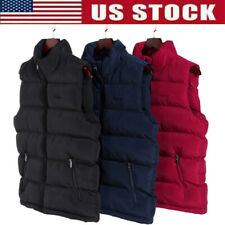 Men Down Quilted Vest Body Warmer Sleeveless Padded Jacket Coat Winter Clothing