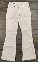 Citizens Of Humanity Jeans Ingrid 002 Low Waist Flat White Raw Hem 67J
