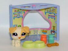 Littlest Pet Shop #1110 Jack Russell Butterscotch Yellow Cream Dog w/Purple Eyes