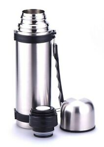 Stainless Steel Vacuum Drink Flask Bottle Travel Mug Cup Hot & Cold Thermos 1 L