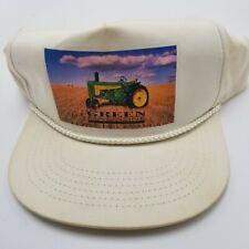 Green Magazine John Deere Tractor NE Hat Cap White Adjustable Snapback Wh1