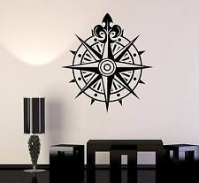 Vinyl Wall Decal Compass Wind Rose Ocean Nautical Marine Stickers (251ig)