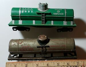 Set of TWO S-scale 1-Dome Tank car bodies, no wheels, no couplers, good cond.