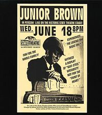 Original Vintage Concert Handbill Junior Brown State Theater Kazoo 1997 Mint