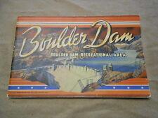 Vintage Curt Teich 1946 Booklet BOULDER DAM Colorized Pics/Story of Construction