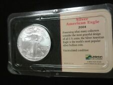 2004 Silver American Eagle Littleton holder  1 oz   Uncirculated Condition