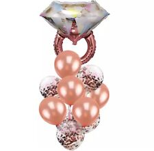 Engagement Party Decorations Bridal Shower Kitchen Tea Rose Gold Ring Balloons