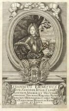 CHRISTIAN WILHELM VON SACHSEN-GOTHA-ALTENBURG - Fleischmann - Kupferstich 1720