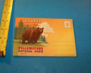"Yellowstone National Park Series  ""D""  Vintage Souvenir Photo Folder   Montana"