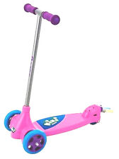 RAZOR KIXI KIX SCRIBBLE~TODDLER GIRLS~RIDE ON~SCOOTER PINK PURPLE+PAD~BELL~LIGHT