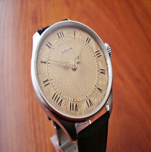 LeCoultre Guilloche dial Marriage watch Antique Swiss pocket watch movement