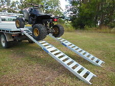 Heavy Duty 3 Metre Folding ATV Quad Bike Loading Ramps structural aluminium