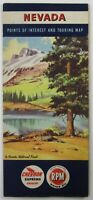 Vintage Chevron Oil Nevada Road Map State Highways Lake Tahoe Las Vegas 1952