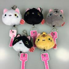 "3"" Neko Atsume Key Chain Kitty Cat Plush Dango Stuffed calico Japaness Game Paw"
