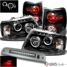 For 03-06 Expedition Black Pro Headlights + Tail Lights + Smoked LED 3rd Brake
